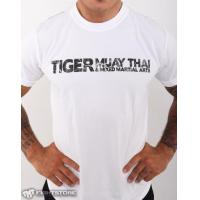 "T-Shirt - Drifit - ""Distressed Tiger"" - White"