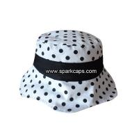 China 100% cotton cute girls outdoor white bucket hat on sale