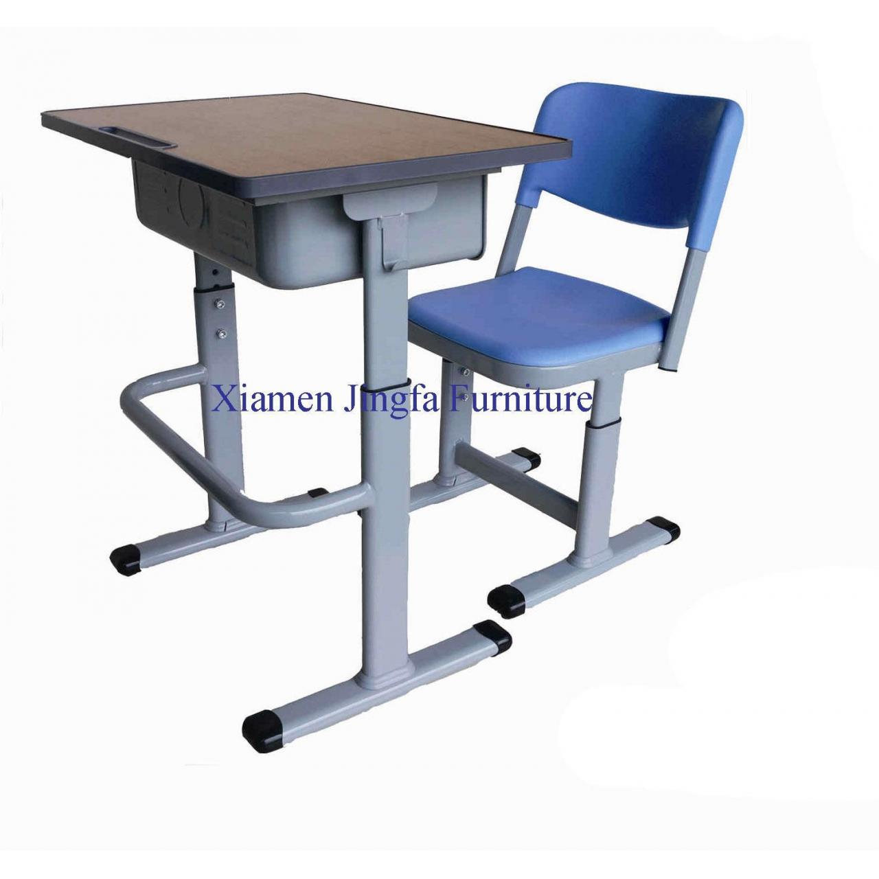 China Height Adjustable Classroom Desk and Chair JF010 on sale