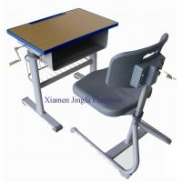 China Height Adjustable School Desk and Chair JF004 on sale