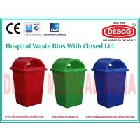Wholesale PLASTIC WASTE BIN CLOSED LID WBPL 101 from china suppliers