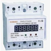 Wholesale DDM100SE Single-phase Two-wire Electronic DIN-rail Active Energy Meter (4-Pole, LED Display) from china suppliers