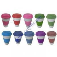 Wholesale Eco-friendly Coffee mug silicone cup cover Gifts from china suppliers