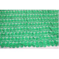 Wholesale Good Quality Green Guipure Lace Fabric In Stock 4 Meters Polyester Chemical Lace Embr from china suppliers