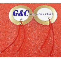 Wholesale 50PCS 35mm Piezo buzzer Sounder Sensor Trigger Drum Disc+ wire copper from china suppliers
