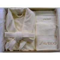 Wholesale 100%Fresh Cotton Towel&Bathrobe,Slipper as Set from china suppliers