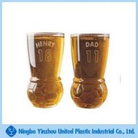 Wholesale 10oz unique football shape at the bottom of beer cup from china suppliers