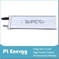 high power ultra thin lithium battery 320mah pl252270 of