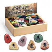 Wholesale Chinese Totem Stone, 20 assorted, 144pcs per display. from china suppliers