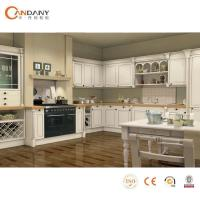 French Taste Oak Wood Modern Kitchen Cabinet Beige Stained