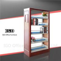 Wholesale Library Book Shelf with Wooden Panels from china suppliers