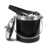 Wholesale Black Stainless Steel Ice Bucket with Tongs from china suppliers