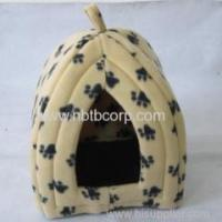 Wholesale cute cat pet foldable fabric house with paw printing from china suppliers
