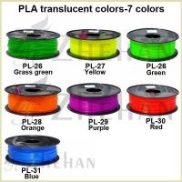 Wholesale 1.75/3.0mm 7 transparent PLA filaments from china suppliers