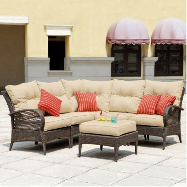 Mission Hills Modular Wicker Collection Laguna Seating Outdoor Patio Lawn And