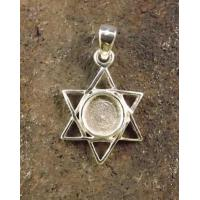 Wholesale Silver Star Of David Pendant To Fit 6mm Stone Cabochon from china suppliers