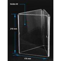 Acrylic Table Tent Clear acrylic A5 menu holder with three sides