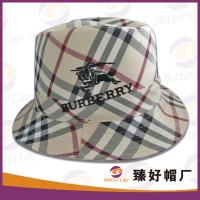 China plaid personalized bucket hats on sale
