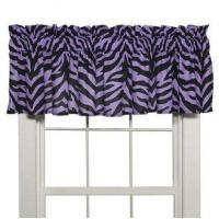 Wholesale Purple Zebra Window Valance from china suppliers