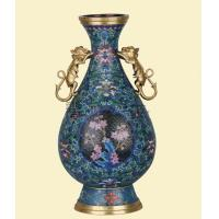 Wholesale Plum Cloisonne Vase Peony Dual beast from china suppliers