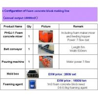 China 10000m3/year foam cement block machine for sale on sale