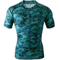 Wholesale Short Sleeve Compressions custom made sublimation compression shirt from china suppliers