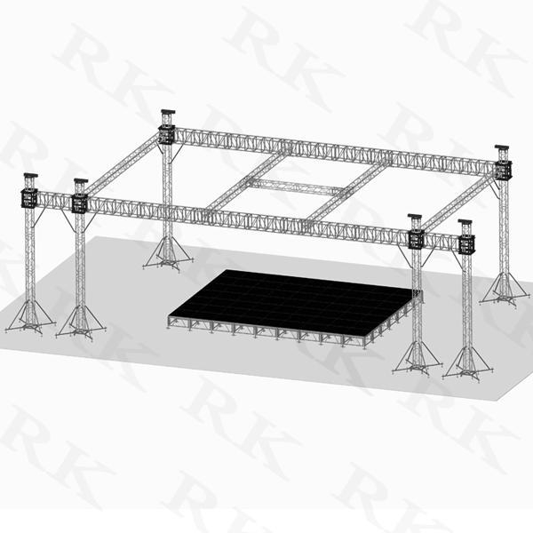 Aluminum Flat Roof System With Stage Of Item 43900612