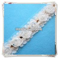 Buy cheap Lovely chiffon flower lace for garment/head /bag/shoe decoration FCL004 from wholesalers