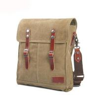Wholesale Professional oem odm good quality canvas leather bike messenger bag for men from china suppliers