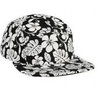 Good quantity black and white pattern cotton camper cap