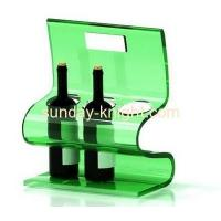 Wholesale Green acrylic wine bottle stand with 3 holders and handle taking WDK-020 from china suppliers