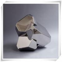 Wholesale Modern Art Stone Shape Stainless Steel Sculpture from china suppliers