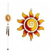 Wholesale Red and Yellow Sunflower Spiral Centre Wind Chime from china suppliers