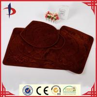 Wholesale Oriental Design European Floral Embossed Bath Rug Set from china suppliers