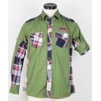 China Men's long sleeved shirt cloth of mixed colors on sale