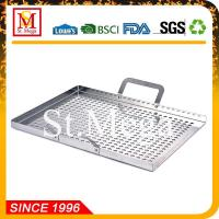 BBQ Grill Topper Stainless Steel BBQ Grill Wok
