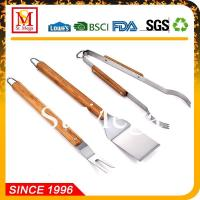 Wholesale BBQ Tools Wooden Handle BBQ Tool set from china suppliers