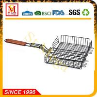 Wholesale BBQ Grill Basket 24 x 12.8-Inch Non-Stick Rectangle Steak Basket from china suppliers
