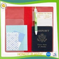 Book cover plastic travel organizer