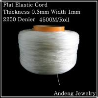Wholesale 4500 Meters Flat Elastic Cord, Crystal Beading Cord, Thickness 0.3mm Width 1mm,1.3kg from china suppliers
