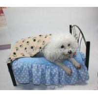 Wholesale Cute Pet Dog Blanket Paw Prints Soft Pet Mat Bed from china suppliers