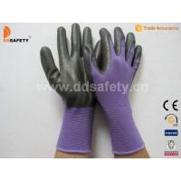 Wholesale Violet nylon with black nitrile glove-DNN810 from china suppliers