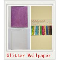 Wholesale Custom Grey Glitter PU Wallpapers from china suppliers