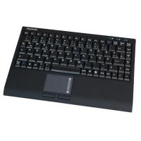 KeySonic Compact USB keyboard with touch pad - black soft skin