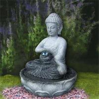 Natural stone buddha carved mini fountain for decoration