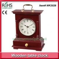 Wholesale WK302624.5x31.5 cm Green product timber promotional desk clock from china suppliers