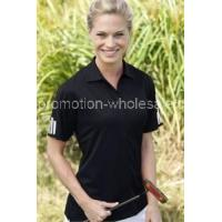 Women's ClimaLite3-Stripes Cuff Polo