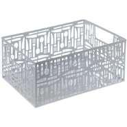 """Wholesale Cutlery Punched Metal Rectangular Storage Box White 14""""L x 10 1/2""""W x 6 1/4""""H from china suppliers"""