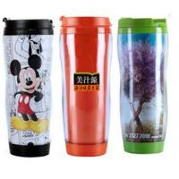 Wholesale Promotional advertising cup with double wall paper insert tumbler from china suppliers