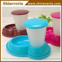 China plastic anti slip pet bowls